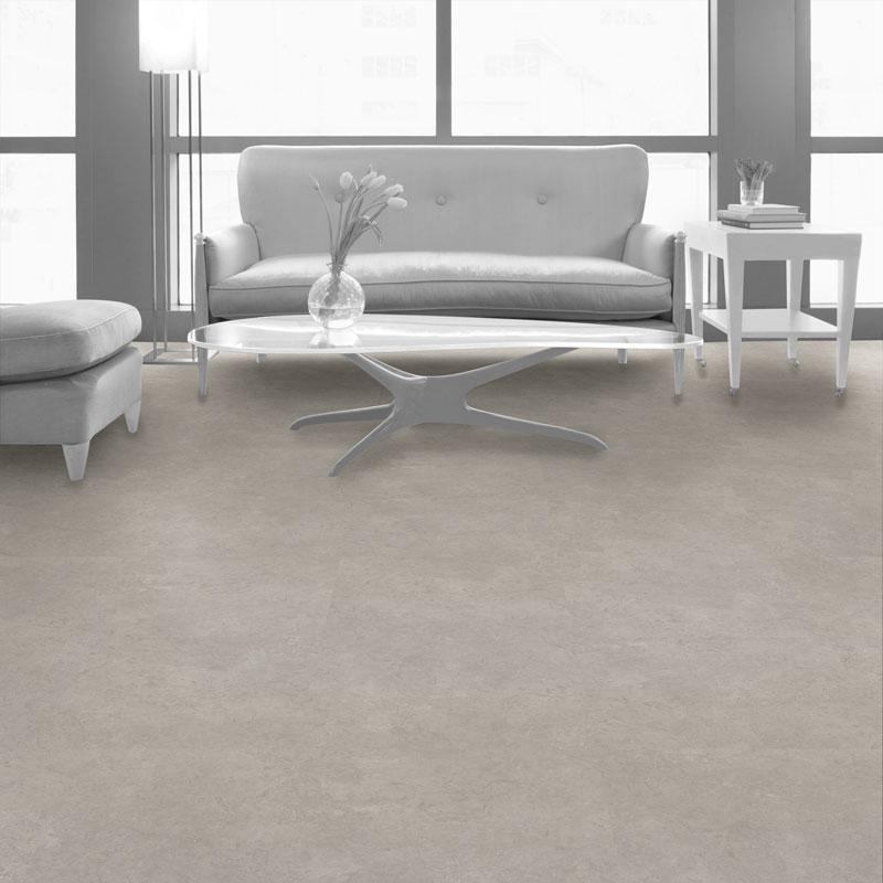 Interface Textured Stone Loose Lay Vinyl Planks Light Concrete