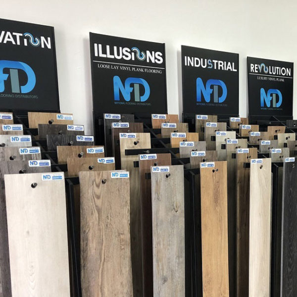 NFD Industrial Loose Lay Vinyl Planks Glacier