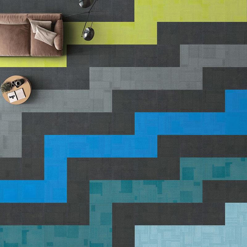 Airlay Paragon Carpet Tiles Midnight Green
