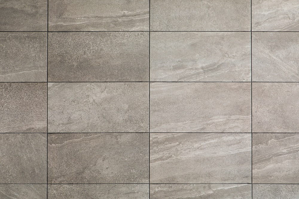 The grid flooring pattern is particularly popular when using tiles