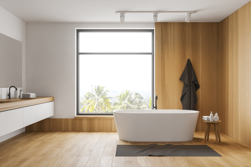 Hybrid planks are ideal for rooms with a lot of moisture (such as bathrooms and laundries)