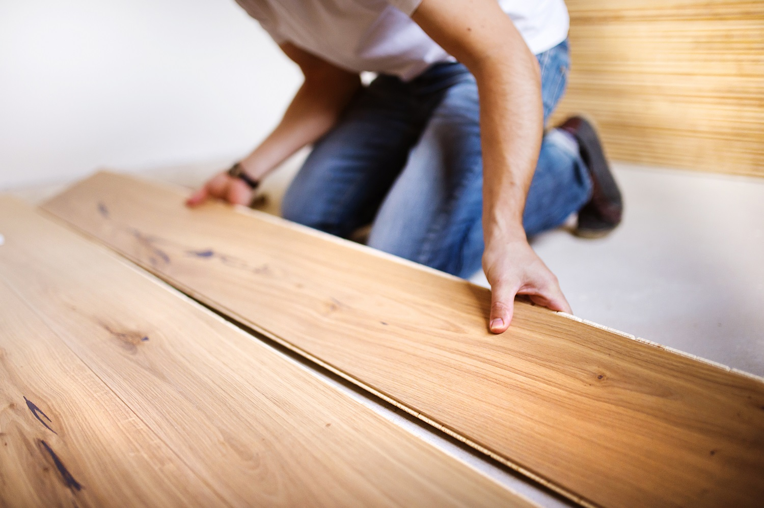 Engineered timber is often installed by a professional floor layer