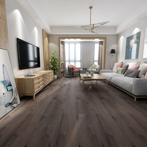 Beau Floor SPC Hybrid Flooring Chocolate Oak