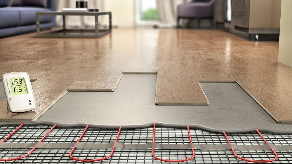 Heating underneath laminate planks