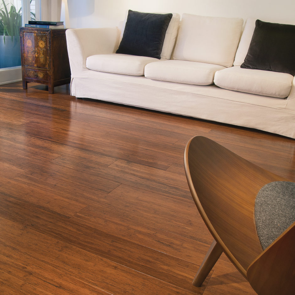 Engineered bamboo floors