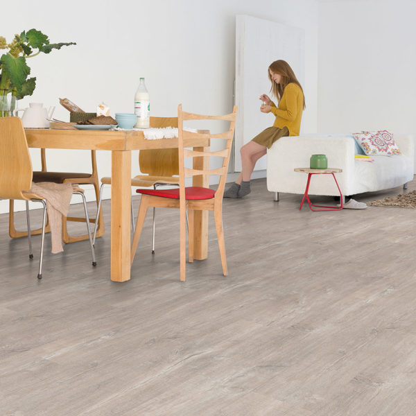 Premium Floors Titan Glue Vinyl Planks Patina Oak Light Grey