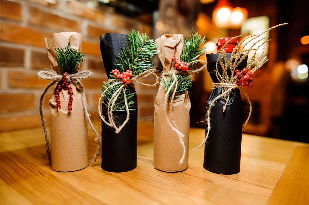 Wine is a popular choice at Christmas