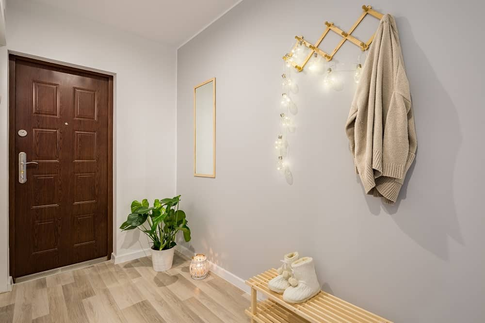 Durable flooring in entryway