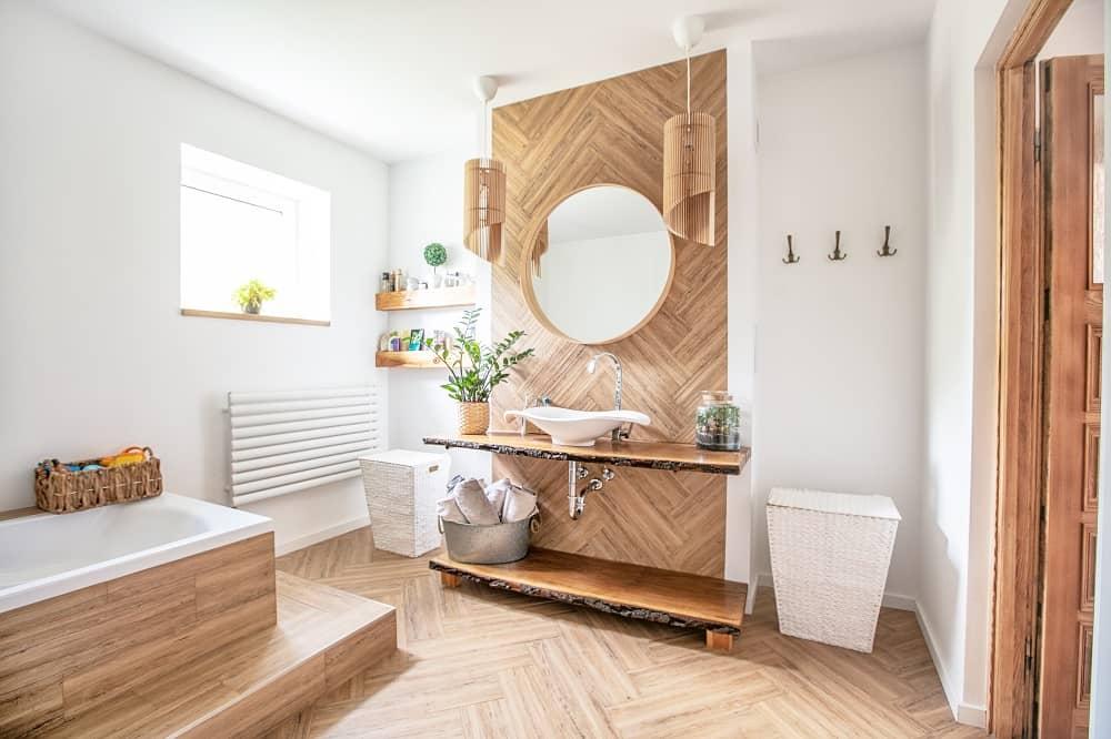 Waterproof flooring is essential in bathrooms