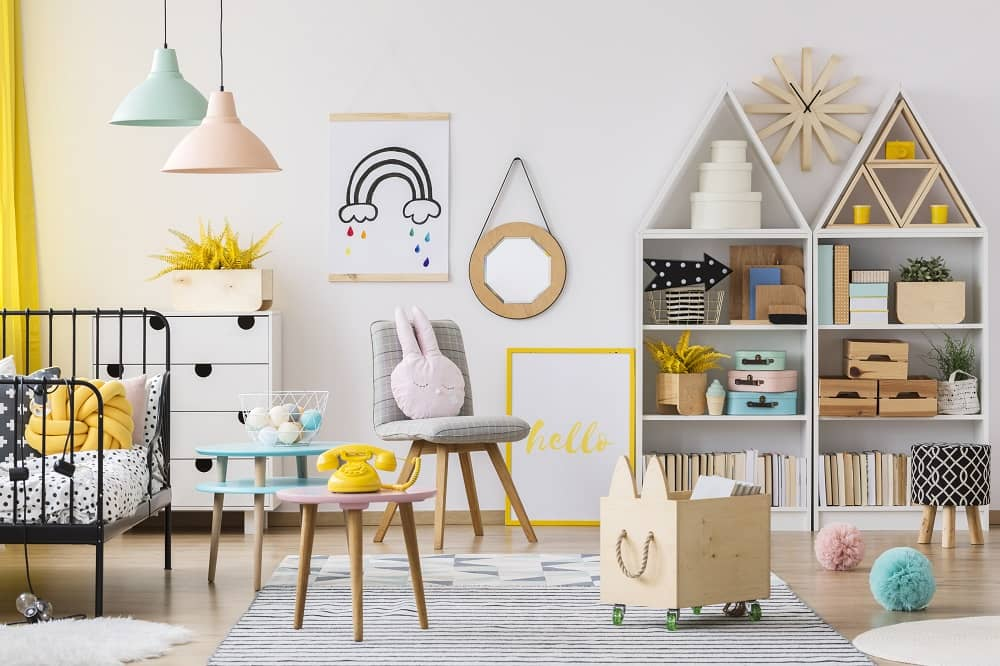 Hard flooring is easier to clean up in playrooms