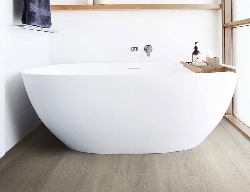Vinyl flooring is better for bathrooms