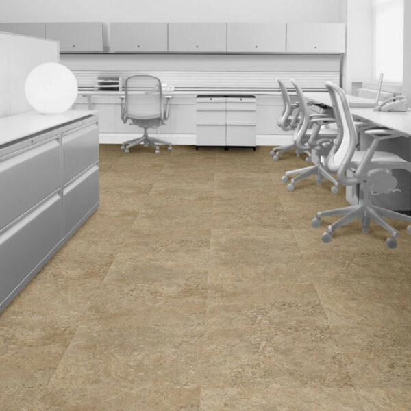 Interface Natural Stone Loose Lay Vinyl Planks Marone Botticino Marble