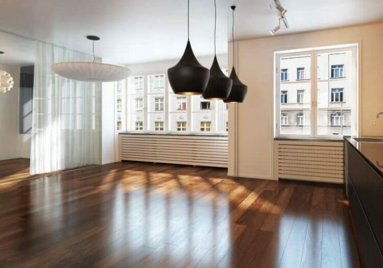 One advantage of refinishing hardwood floors is it's a lot less expensive than replacing them.