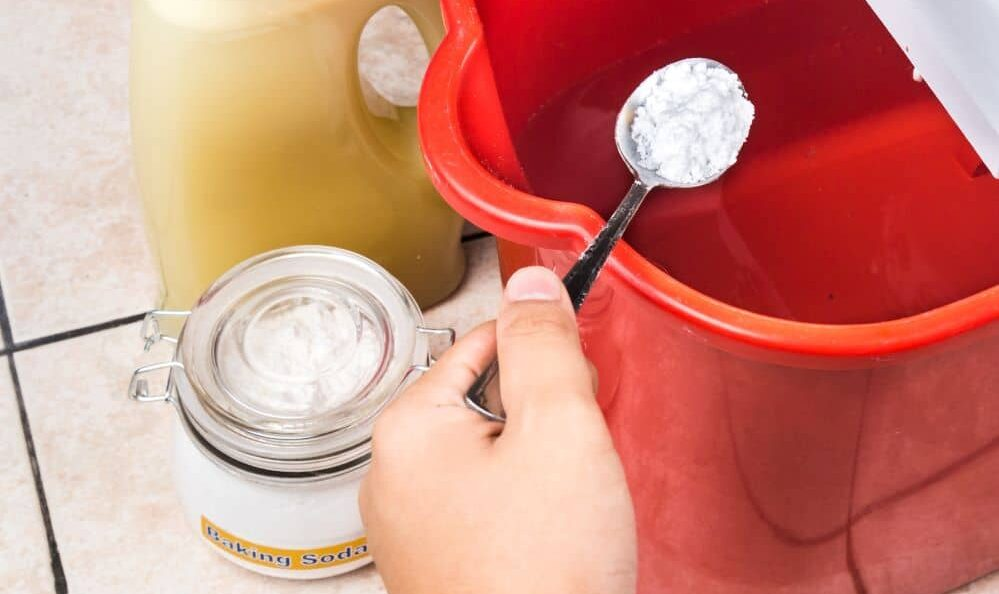 The most common and effective homemade grout cleaner is a mixture of baking soda, hydrogen peroxide, and dish soap.