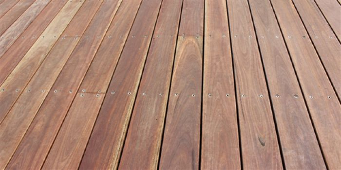 Spotted Gum timber is highly durable, which makes it a good choice for decking.