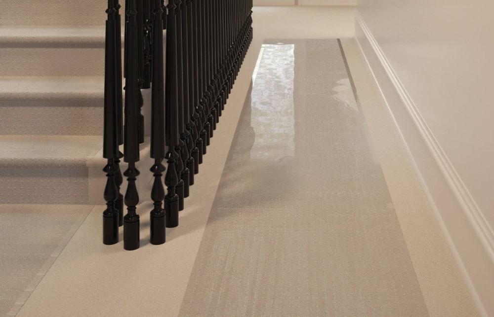 Vinyl carpet protectors shield floors from dirt and debris.