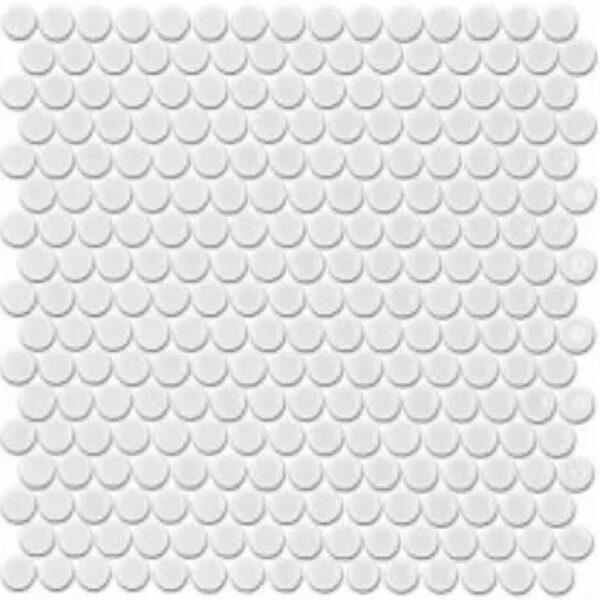 Penny Rounds Tiles White Matt