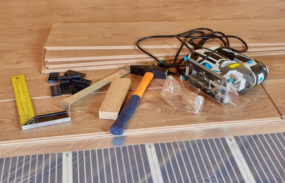 Flooring installation supplies.