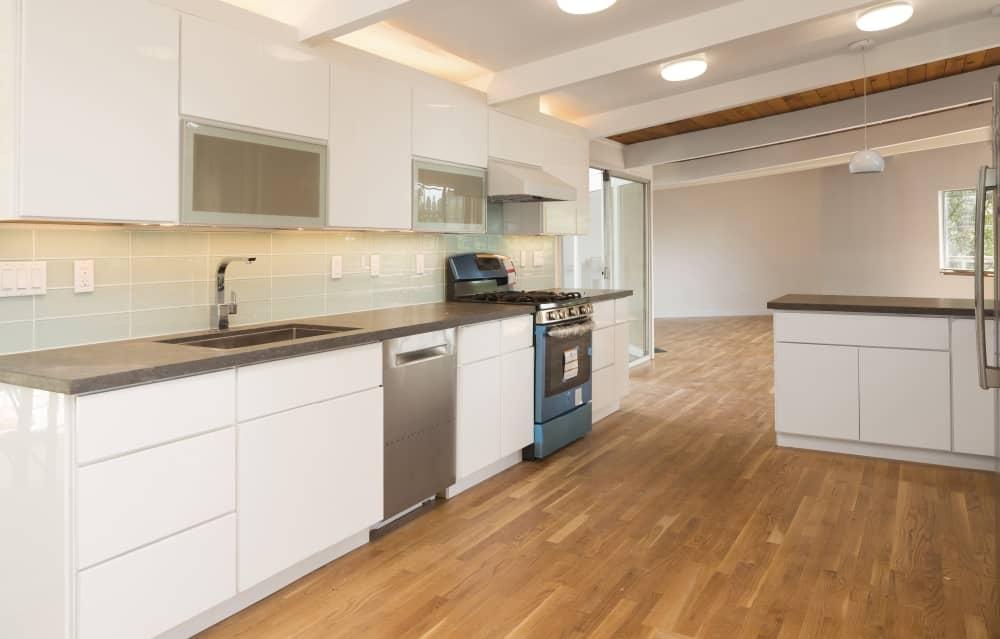 Newly installed kitchen floor.